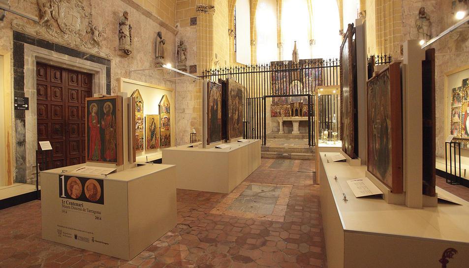 La capella del Corpus Christi al fons, a la Sala II del Museu diocesà.
