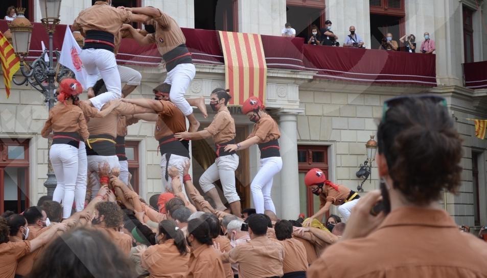Actuación castellera de la Diada de la Mercadal en Reus