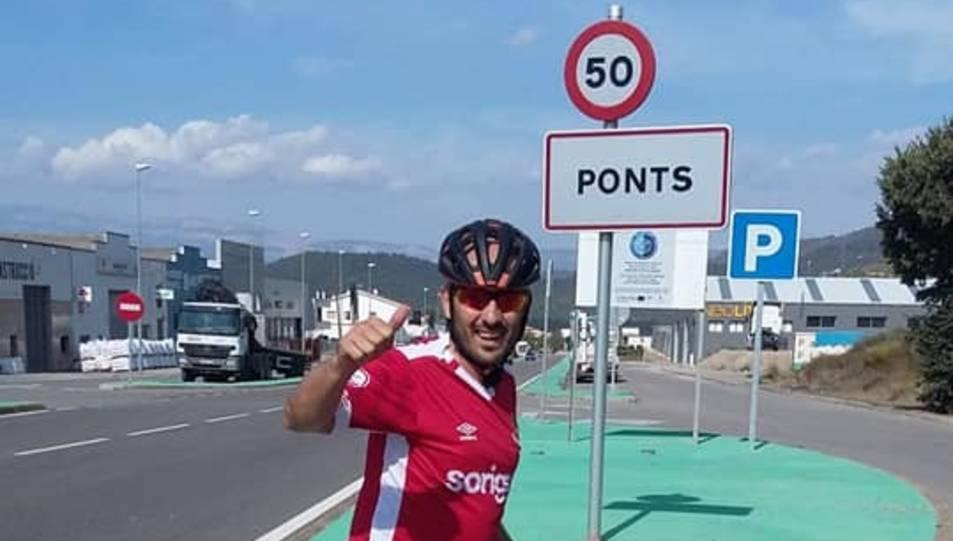 Marc Marruecos en la seva arribada a Ponts.