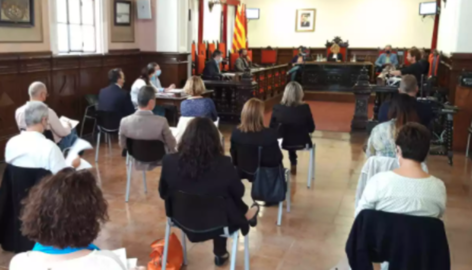 Imatge del ple de l'Ajuntament de Tortosa.