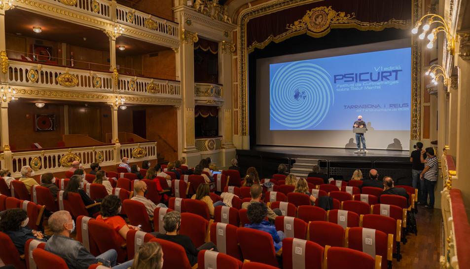 Inauguració de la 6a edició del Psicurt al Teatre Bartrina de Reus.