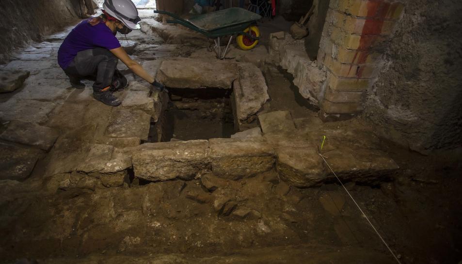 Imatge de les excavacions.