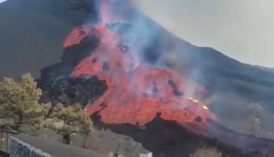 Imatge de la colada de lava.