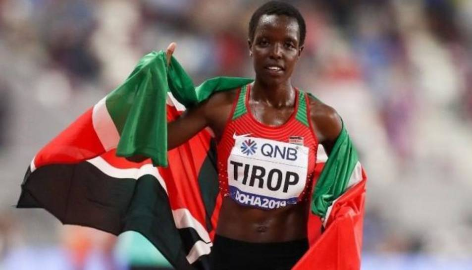 L'atleta Agnes Jebet Tirop