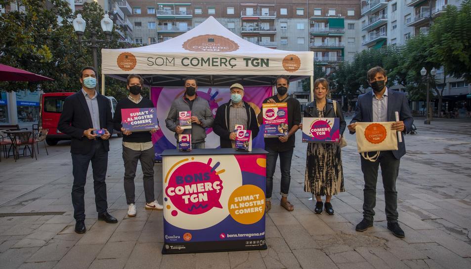 Imatge de la presentació de la campanya Bons Comerç Tarragona.