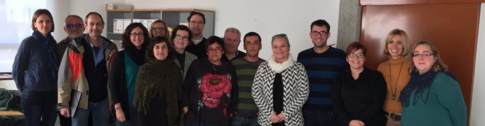 Els participants a la reunió que va tenir lloc aquest dimecres.