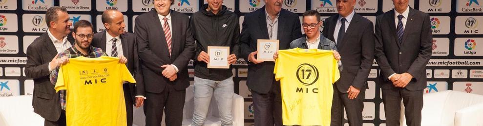 Álvaro i Rubén, capitans del Nàstic Genuine, a la presentació del MIC 2017.