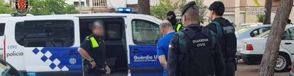 L'operatiu el van realitzar de forma conjunta la Guàrdia Civil i la Guàrdia Urbana de Tarragona.