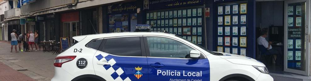 Imagen de archivo de un coche policial de la Policía Local de Calafell.