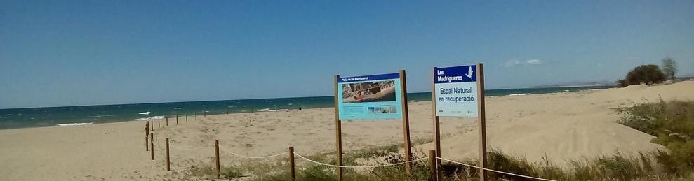 Imatge d'arxiu de la platja de les Madrigueres del Vendrell.