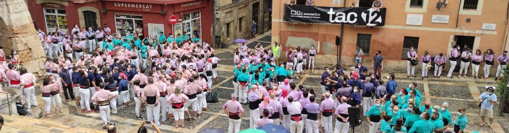 Imagen de las colles en la plaza.