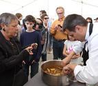A lo largo de la mañana se ha realizado un 'showcooking' sobre cómo cocinar ranxets.