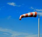 Imagen de archivo de una manguera indicativa de viento.