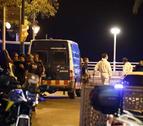 El desplegament policial a Cambrils la passada matinada.