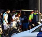 Cordó policial a Barcelona després de l'atac a Les Rambles.