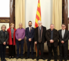 Imatge de la reunió al Parlament.