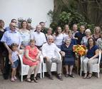 Imagen del acto de homenaje a la centenaria Rosa Vallvè.