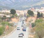 Pla general de la marxa lenta per la N-420, amb el nucli urbà de Gandesa.
