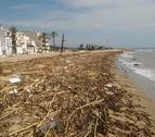 Imagen del estado de la playa de Sant Salvador después del huracán Leslie.