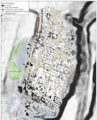 Imagen captada por un georradar que muestra una ciudad ibérica soterrada en Banyeres del Penedès.