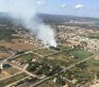 Imagen aérea del ncendi de Torredembarra.