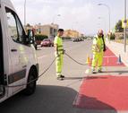 Este lunes han empezado los trabajos de construcción y señalización del carril.
