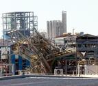 Estat en què va quedar la planta d'IQOXE afectada per l'explosió del 14 de gener.