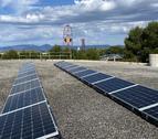 Imatge dels panells fotovoltaics instal·lats.