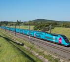 Imatge d'un dels trens amb la marca OUIGO de la companyia SNCF.