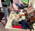 Alguns dels objectes sostrets per part dels detinguts.