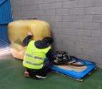 La empresa había instalado un depósito de mil litros con el que suministraba sus propios vehículos.