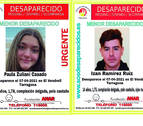 Imagen de los jóvenes difundida por SOS Desaparecidos.