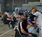 Imagen de un centro de vacunación en Cataluña.