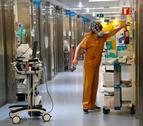 Imatge d'arxiu d'un passadís d'una UCI hospitalària.