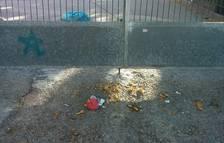 Els pares denuncien la presència de brutícia i orins prop de l'entrada de l'Escola Torreforta