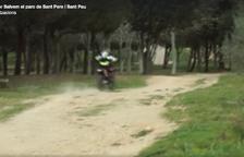 Denuncien el pas de motocicletes a gran velocitat pel parc de SPiSP