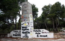 El monòlit franquista del Coll del Moro es demolirà de manera immediata
