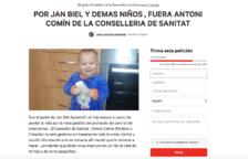 El pare d'un nen que va patir l'enterovirus recull signatures perquè Comín deixi Salut