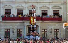 Els Xiquets de Reus arriben a la Festa Major volent estrenar castells de 9