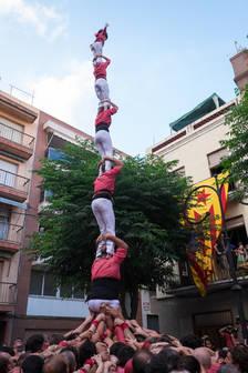 Els Xiquets de Tarragona ensopeguen de nou a la diada de Sant Pere al Serrallo