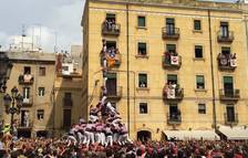 La Jove de Tarragona carrega per primera vegada el 3de9 amb folre i pilar