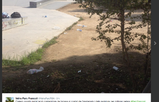 Els veïns del Parc Francolí reclamen més papereres prop de l''skate park'