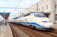 Un tren Euromed, que cobreix el trajecte entre Barcelona i Valencia