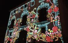 Un espectacular mapping dóna la benvinguda al Nadal al Morell