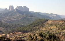 Imatge de les Roques de Benet al parc natural dels Ports d'Horta de Sant Joan.