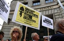 Imatge d'arxiu d'una protesta contra les clàusules abusives de les hipoteques.
