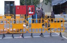 Imatge del nou punt d'esbarjo infantil instal·lat al carrer Doctor Robert.