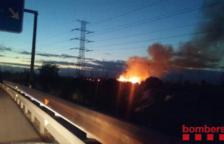 El foc vist des de la distància.