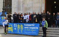 El manifest llegit a la concentració ha demanat seguretat i col·laboració per part de ciclistes.