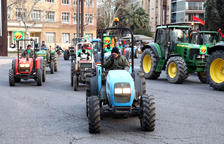 La primera jornada de la Marxa Pagesa congrega 59 tractors a Tarragona